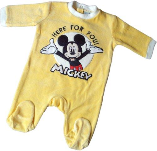 Disney Micky Maus Pyjama/Schlafanzug/Strampler - Mickey - Here for You! - Gelb