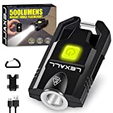 LED Small Flashlight, 500Lumens Bright Mini Keychain Light, Portable USB Rechargeable Pocket Lights with 3 Modes Compact Baseball Cap Lights Indoor and Outdoor for Walking,Searching and Hiking