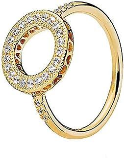 Pandora Women's Gold Plated Shine Cubic Zirconia Fashion Ring - 56 EU - 167096CZ-56