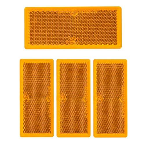 4 x Rückstrahler orange rechteck Anhänger Katzenauge Reflektor LKW Wohnwagen PKW