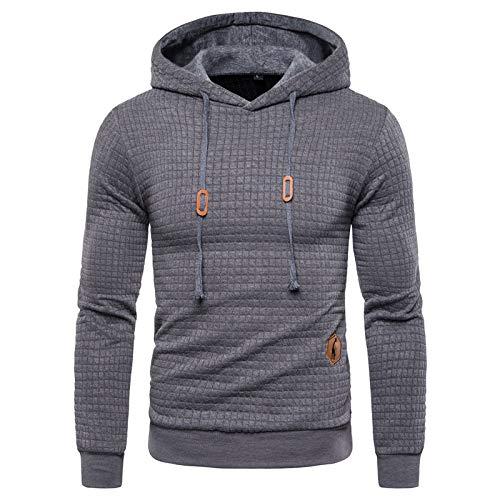 ZXHDP Frühling Herbst Hoodies Männer Casual Hooded Herren Sweatshirt Plaid Pullover Hoodie Herren Bekleidung Streetwear