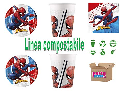 Spiderman Marvel Cdc-set (8 borden, 8 bekers, 20 servetten)