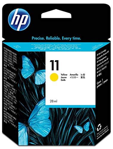 HP 11 C4838A, Amarillo, Cartucho de Tinta Original, de 2.550 páginas, para impresoras HP Business InkJet serie 1100, 1200, 2200, 2300 y OfficeJet serie 9100