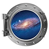 "12"" PortScape Instant Space Porthole Window Milky Way Galaxy #2 Wall Graphic Sticker Decal Kids Game Room Art Cling Decor"