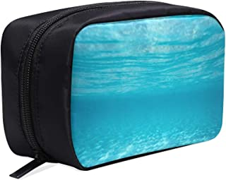 Quiet Underwater Scene Portable Travel Makeup Cosmetic Bags Organizer Multifunction Case Small Toiletry Bags For Women And Men Brushes Case