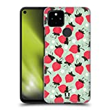 Head Case Designs Strawberry Fruit Prints Hard Back Case and Matching Wallpaper Compatible with Google Pixel 4a 5G