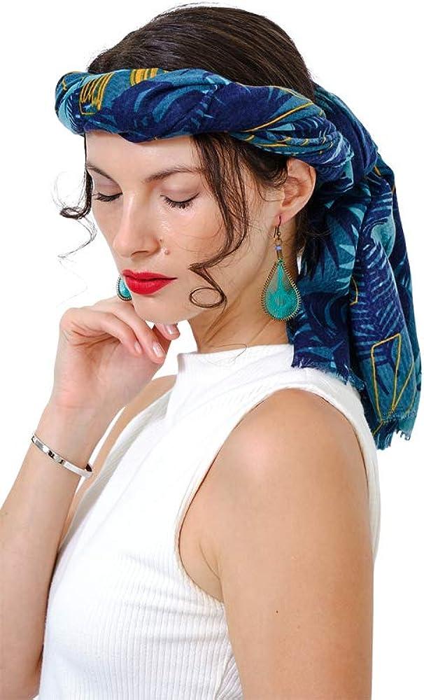 Scarfs For Women Lightweight Floral - Leopard Head Hair Women Scarves & Wraps (Green)