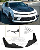 Extreme Online Store Replacement For 2016-2018 Camaro SS | EOS Package Painted Carbon Flash Metallic Front Bumper Side Canard Dive Planes Fin Pair