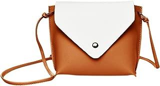 Everpert Women Casual Messenger Handbags Leather Flap Crossbody Shoulder Purse/Black