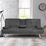 Best Sofa Futons - MIERES Modern Convertible Futon Sofa Bed for Living Review