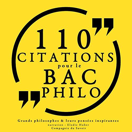 Couverture de Philosophie pour tous. 110 citations pour le bac philo