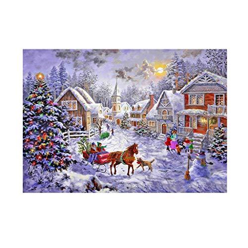 LoveLeiter Kinderpuzzle Weihnachten thematisch Puzzle Erwachsenen- und Kinderpuzzle Festivalgeschenk virtuelles Puzzle Impossible Puzzle,Puzzle farbenfrohes Legespiel Festival Geschenk(1000/500PC)