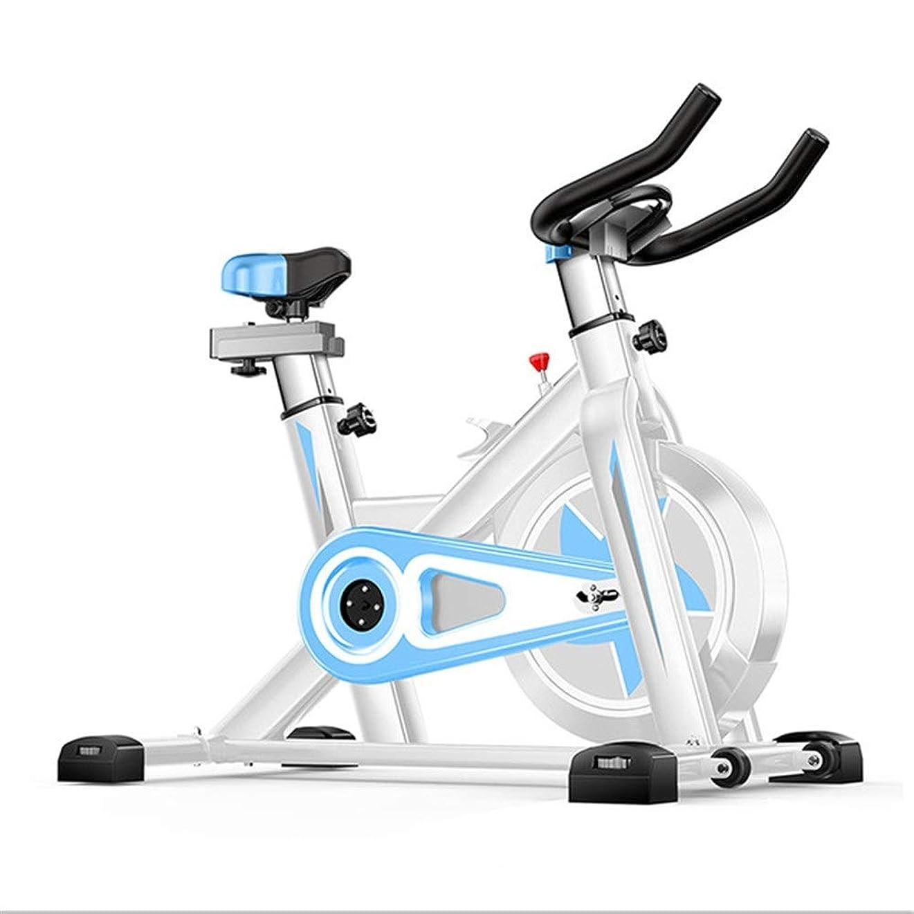名前を作る雇用挽くスピニングバイク ホームジムのトレーニング屋内サイクリングバイクトレーナーのための静止運動自転車フィットネス機器 (色 : 青, サイズ : Free size)
