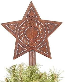 Star Tree Topper in Rustic Tin