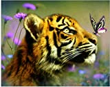UROE Pintura Diamante Diamond Tiger DIY Diamond Painting Kit Gift Home Decoración de Pared Artesanías
