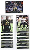 2009 Topps New Orleans Saints Complete Team Set (13 Cards)
