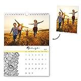 Fotoprix Calendario 2021 pared personalizado con tus fotos | Varios Diseños y Tamaños Disponibles | Calendario con mandalas y dibujos para pintar | Tamaño: A3 (29,7 x 42 cms)