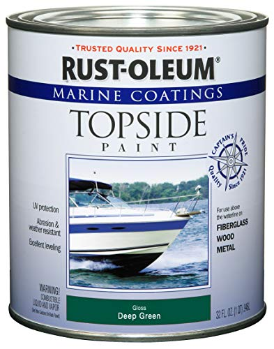 Rust-Oleum, Deep Green 207007 Marine Coatings Topside Paint, Quart, 1