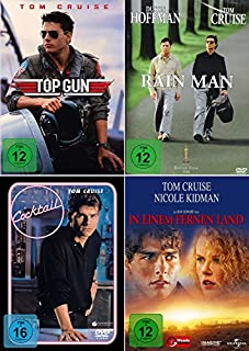 Tom Cruise 4-Filme Collection: Top Gun + In einem fernen Land + Rain Man + Cocktail (Kein Box-Set)