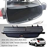 Caartonn Cargo Cover for 2010-2017 GMC Terrain Chevrolet Equinox Trunk Retractable Cargo Luggage Security Shade Cover Shield Black(with Small Flaps