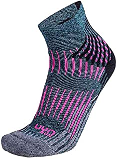 UYN, Lady Run Shockwave Socks Calcetines, Mujer, Turquesa, Gris, Rosa, 41/42