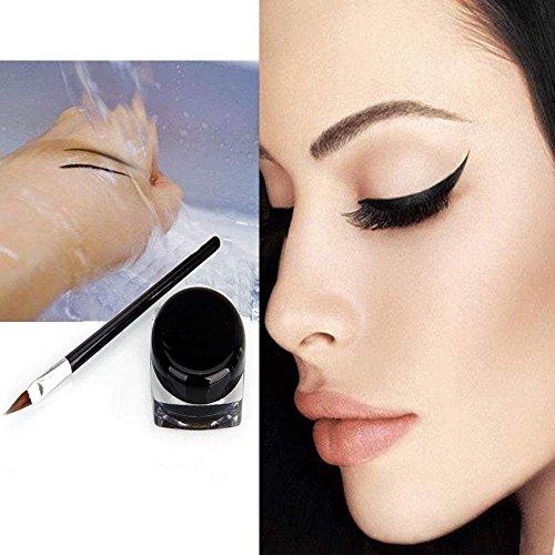 Eye Liner Eyeliner Neuf Imperméable Ombre Gel Maquillage Produits De Beauté + Pinceau Noir