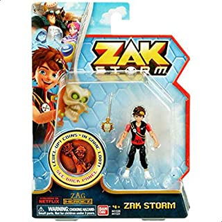 BANDAI 41531 Zak Storm Figure with Coin