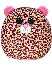 Ty - Squish a Boos - Coussin Peluche Enfant Lainey le léopard 40 cm, Ty - 39199