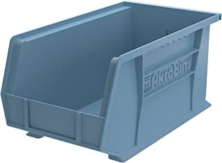 Akro-Mils 30240 15-Inch by 8-Inch by 7-Inch Plastic Storage Stacking Hanging Akro Bin, Light Blue, 12-Pack