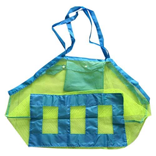 HSKB Grote mesh strandtas, zandspeelgoed, waterspeelgoed, opbergtas, strandtas, opvouwbaar, zachte boodschappentas, voor badtas, vakantie