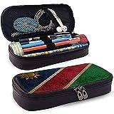 Namibia Bandera de gran capacidad de cuero Estuche de lápices Estuche de lápices Papelería Titular Caja Organizador Bolígrafo escolar Bolso de papelería para estudiantes