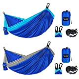 2 Pack Camping Hammock Double & Single,...