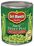 Del Monte Canned Fresh Cut Sweet Peas No Salt Added, 8.5-Ounce (Pack of 12)