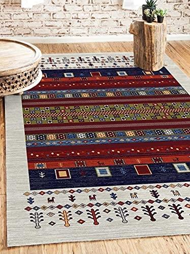 Alfombra, diseño oriental, 160 x 230 cm, lana, multicolor, azul (160 x 230 cm)