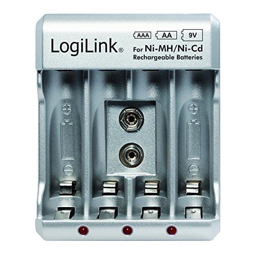 LogiLink batterij. Oplader (AA/AA/9V). zilver