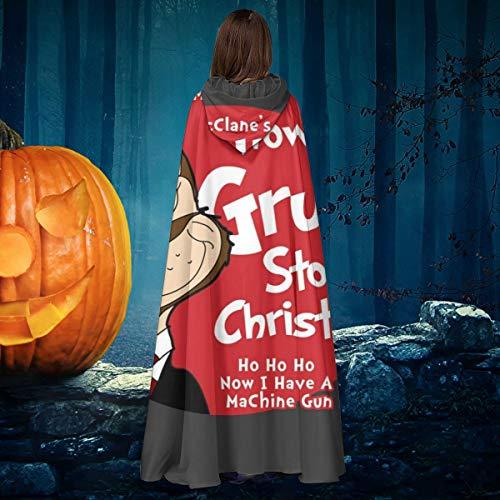 NULLYTG Die Hard Dr. Seuss Gruber Grinch Unisex Weihnachten Halloween Hexe Ritter Kapuzenmantel Vampir Umhang Umhang Cosplay Kostüm