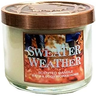 Bath & Body Works Sweater Weather Jar Candle w/ Decorative Lid~ 1.3 Ounce Mini Size