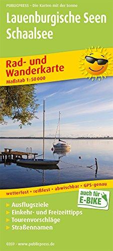 Lauenburgische Seen - Schaalsee: Rad- und Wanderkarte mit Ausflugszielen, Einkehr- & Freizeittipps, wetterfest, reissfest, abwischbar, GPS-genau. 1:50000 (Rad- und Wanderkarte: RuWK)