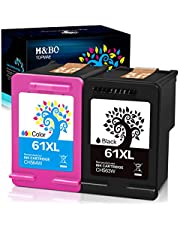 $27 » H&BO TOPMAE Remanufactured Ink Cartridges Replacement for HP 61XL 61 XL to use with Envy 4500 5530 5535 Deskjet 1000 1056 1510 1512 1010 1055 OfficeJet 2620 4630 Printer (1 Black 1 Tri-Color)
