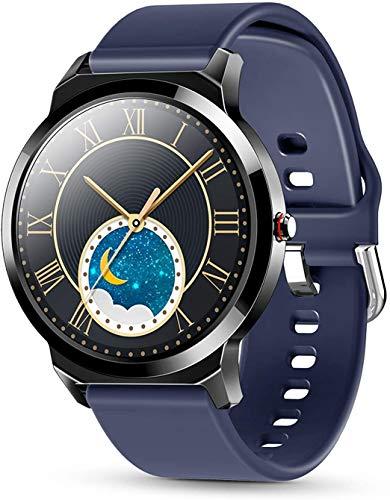 ZHENAO Smartwatch Watch, Pantalla de Color Completo Tft Hd Tft Tft Tft Tft Hd de 1.28 Pulgadas, Inforión Inteligente, Recordatorio de Llamadas Sedentarios Ip67 Exquisito/Azul