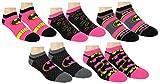DC Comics Womens Batman Ankle-No Show Socks 5 Pair Pack Multi-Color, One Size 9-11