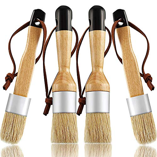 Fanuse Kreide und Wachs Pinsel Umfassen Flache und Runde Kreide Pinsel mit Borsten, Mehr Zweck Pinsel (4 StüCk)