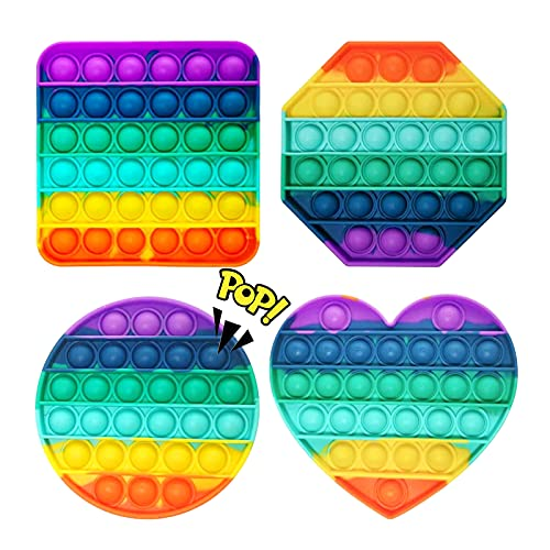 PINPOXE Pop it Fidget Toy Set, fidgets Toys, Push Up Zappeln Spielzeug, Pop Zappeln Spielzeug Autismus Kauen Sensorisch Push Bubble Sensorisch Spielzeug Autismus Besondere Bedürfnisse Stressabbau