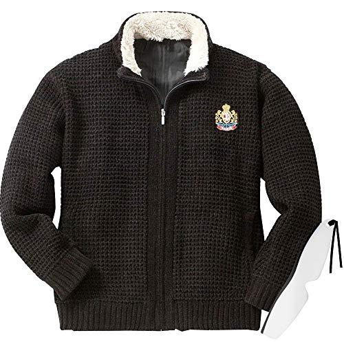 『裏地付き 柔らか ニットジャケット ACPR-2217 しおり型ルーペ付き (LL, ブラック)』のトップ画像