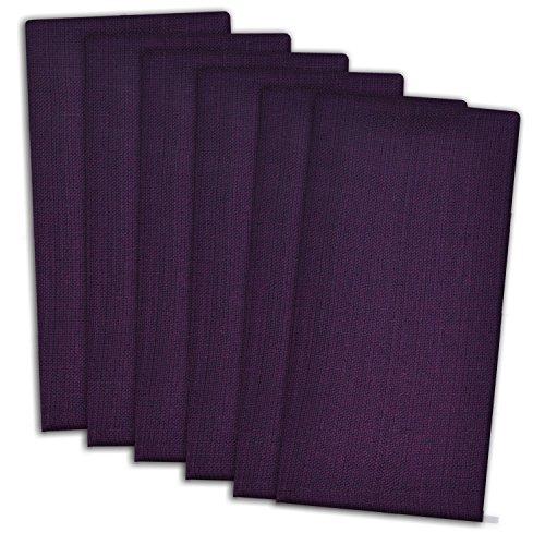 DII CAMZ33307 Variegated 100% Cotton Napkin Set, Set of 6, Eggplant
