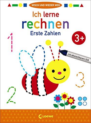 Wisch und wieder weg - Ich lerne rechnen 3+: Erste Zahlen - Übungen zum Erlernen von Mathematikgrundlagen für Kinder ab 3 Jahre