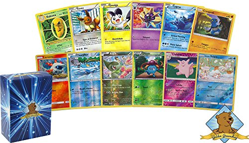 100 Assorted Pokemon Cards - 10 Reverse Holographic Cards, 90...