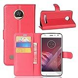 Guran® Housse en Cuir PU pour Motorola Moto Z2 Play Smartphone Flip Cover Étui Portefeuille et...