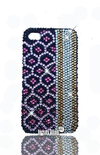 Leopard Bling 3D Handmade Swarovski Czech Crystal & Rhinestone Animal Print iPhone 5 case/Cover by Jersey Bling (Pink Leopard)