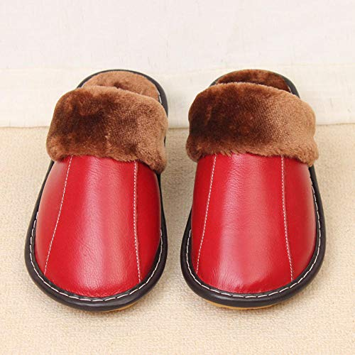 B/H Pantuflas antideslizantes de algodón para interiores y exteriores, para el hogar, para interiores o interiores, para invierno, para parejas, cálidas zapatillas de espuma viscoelástica